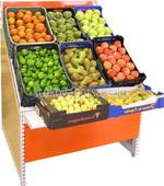 Стелажи за храни от дървен материал